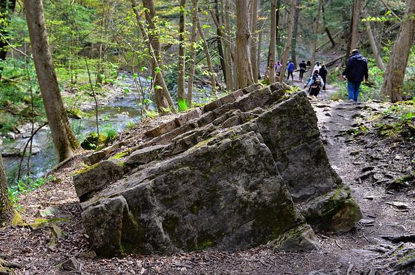 Big rock on trail