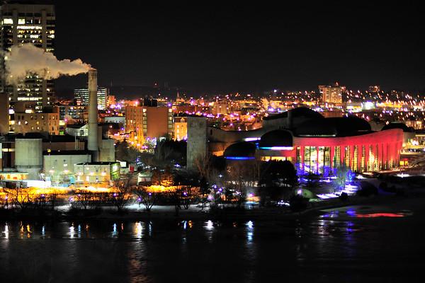 Hull Quebec at Night
