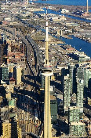 Above the CN Tower