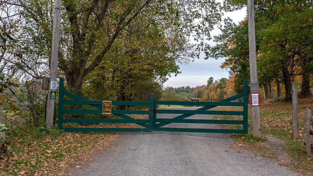 Gate down in the fall at Thousand Islands National Park - Ontario Canada