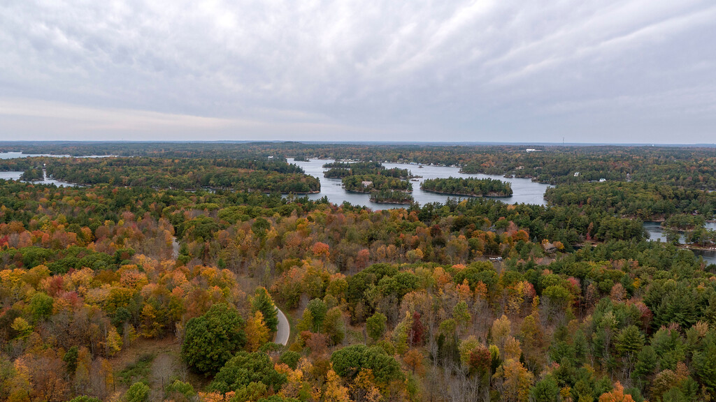 1000 Islands in the Fall - Fall Foliage of the Thousand Islands Ontario Canada