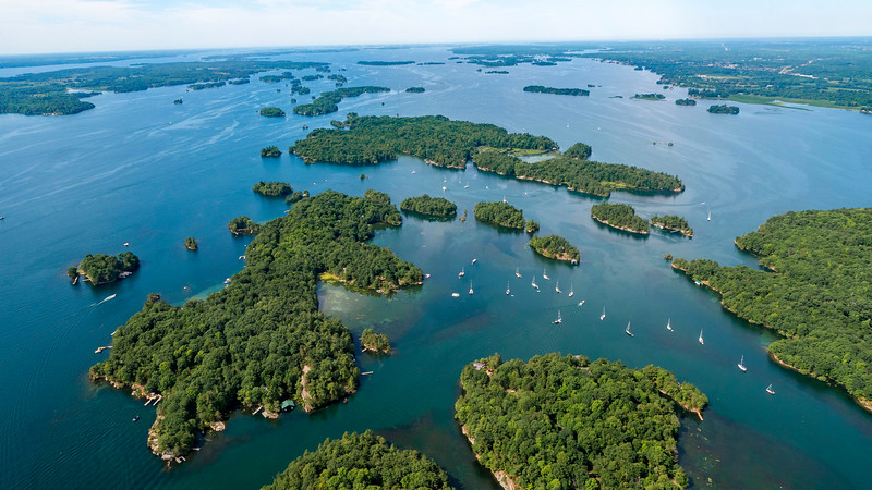 1000 Islands from above