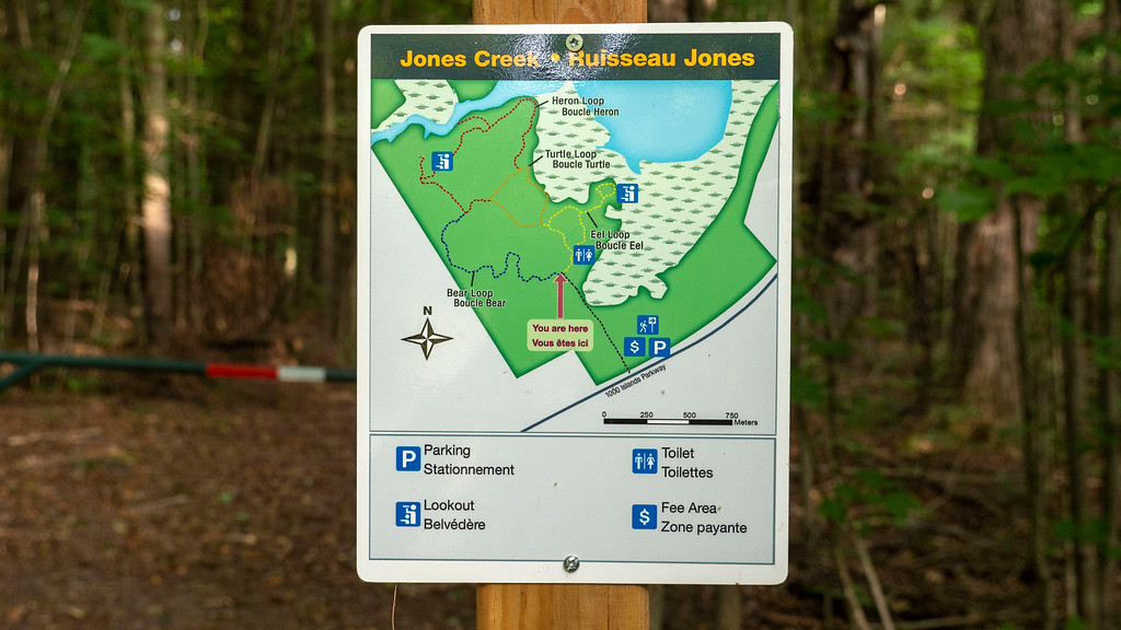 Map of the Jones Creek Trails