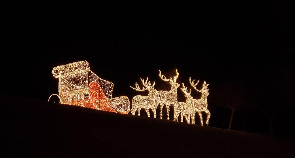 Santa Christmas lights at the Aurora Winter Festival Toronto
