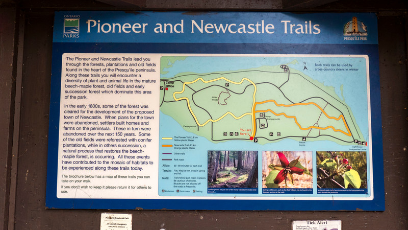 Pioneer and Newcastle Trails map