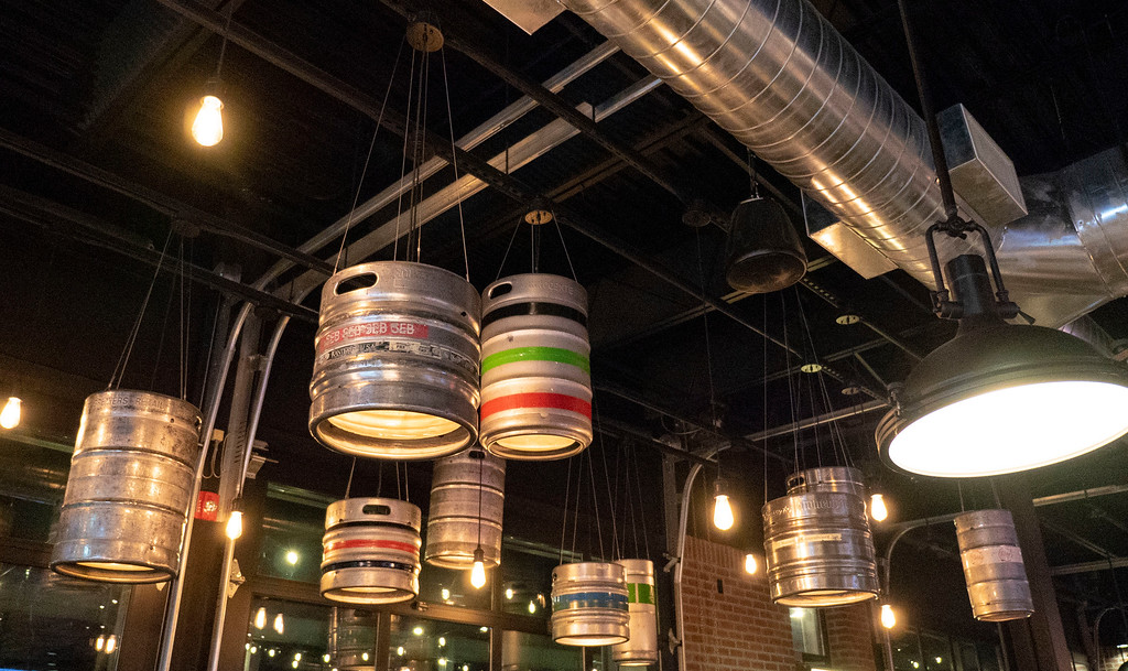 Beertown Public House in Burlington, Ontario - Restaurants in Burlington - Kegs in the Ceiling