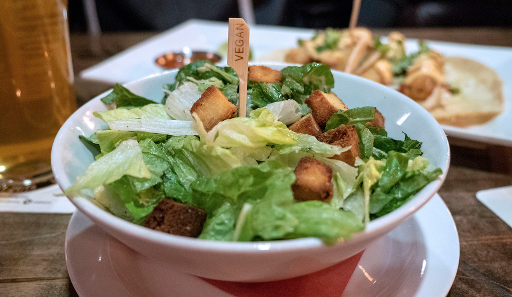 Beertown Public House in Burlington, Ontario - Restaurants in Burlington - Vegan Caesar salad
