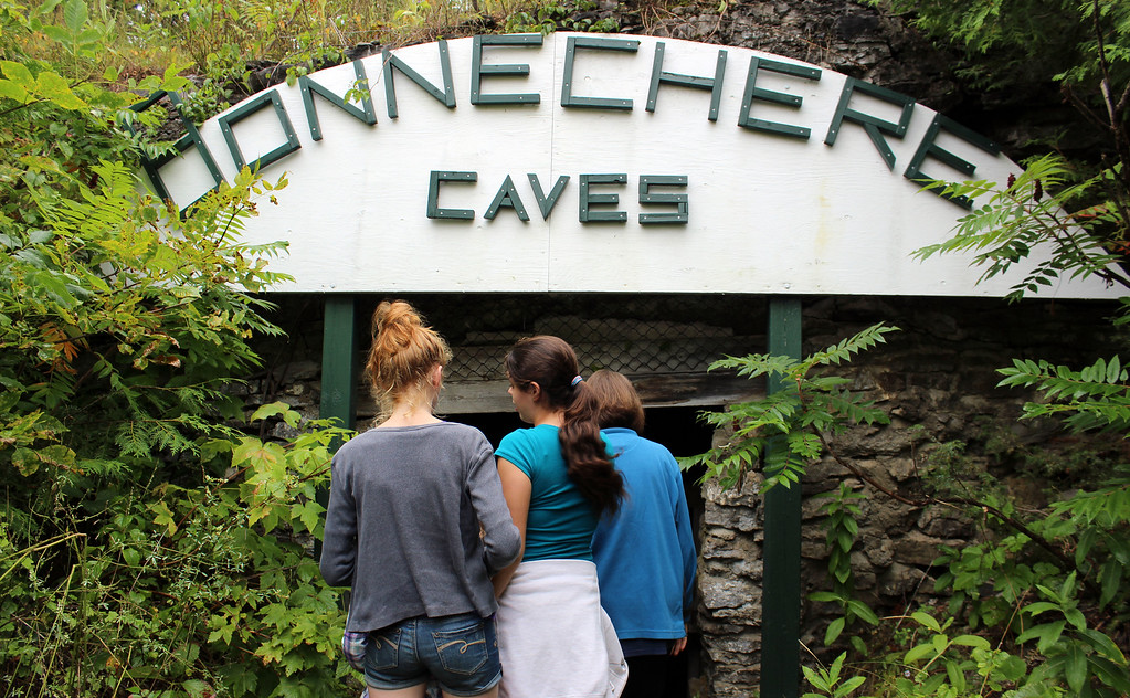 Entering Bonnechere Caves, Caves near Ottawa