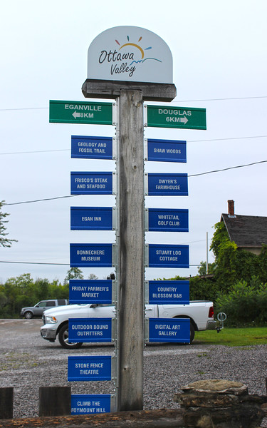 Sign post of the Ottawa Valley