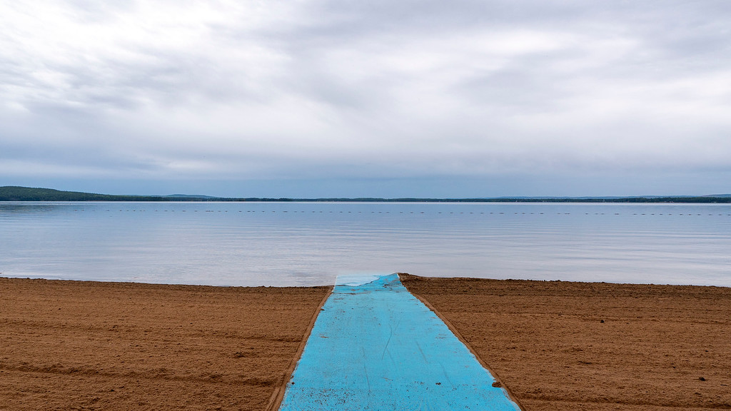 Wheelchair accessible beach at Bonnechere Provincial Park