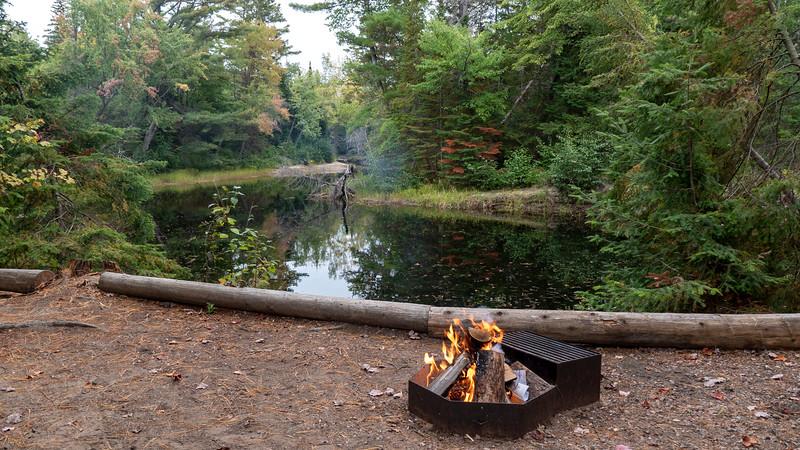 Campfire at Bonnechere Provincial Park