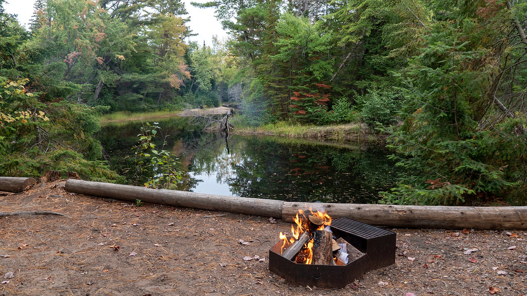 Bonfire at Bonnechere Provincial Park