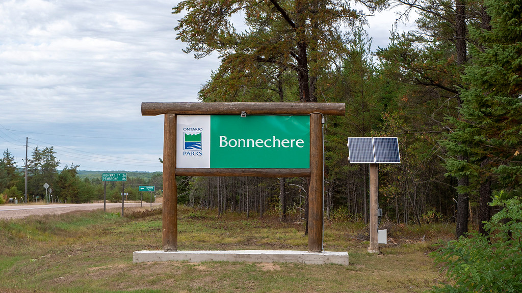 Bonnechere Provincial Park - Ontario Parks Entrance