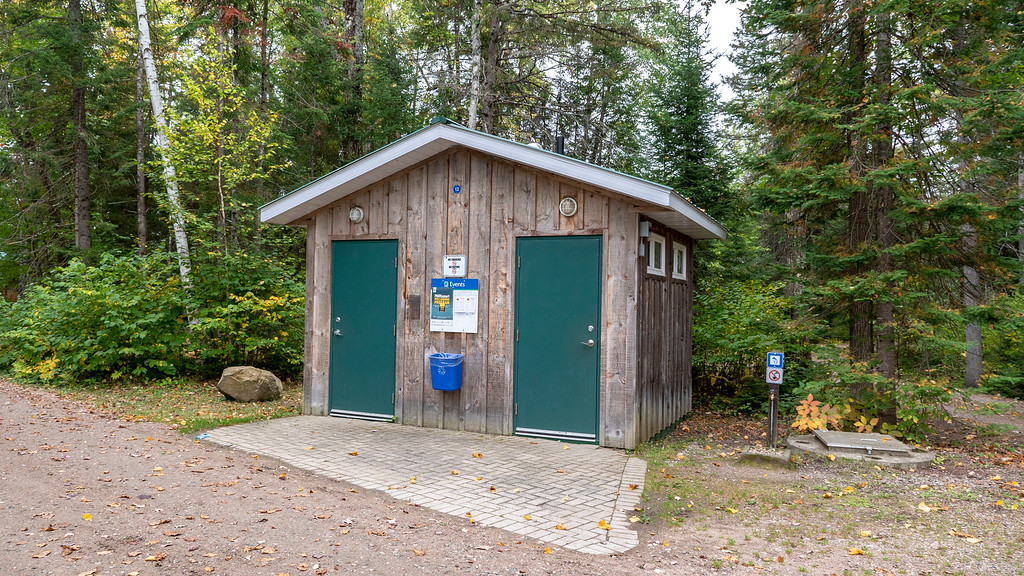 Bathroom facilities at Bonnechere Provincial Park