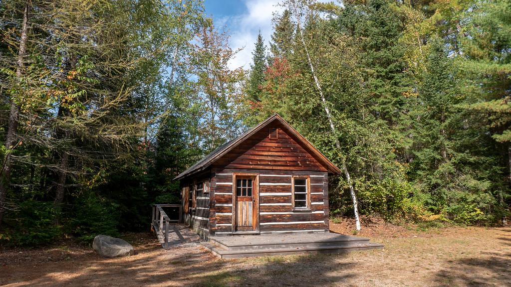 Historic cabins and log buildings on the Bonnechere River in the Ottawa Valley