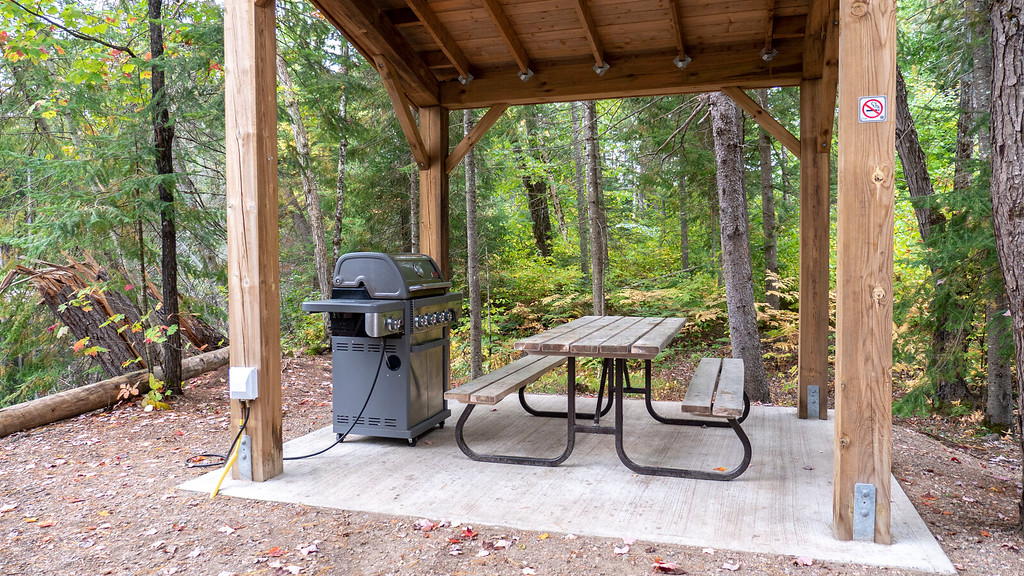 BBQ at the Rustic Cabin of Ontario Parks - Bonnechere Park