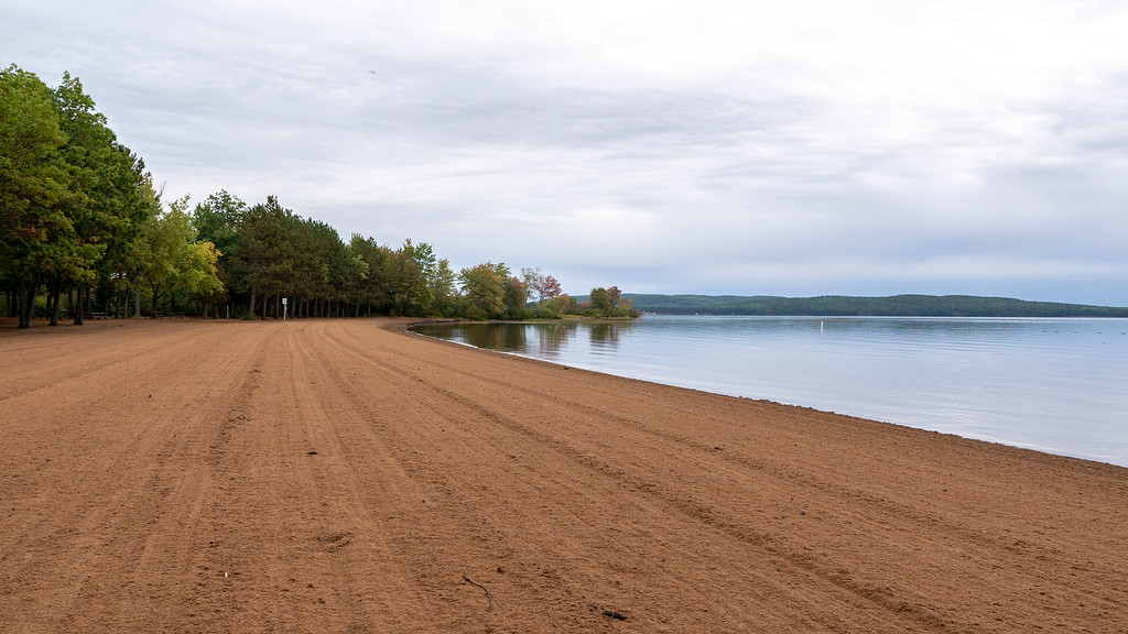 Sandy beach at Bonnechere Provincial Park