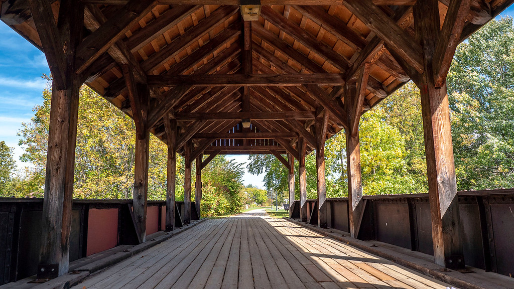 Covered bridge at Killaloe Station Park, Ontario