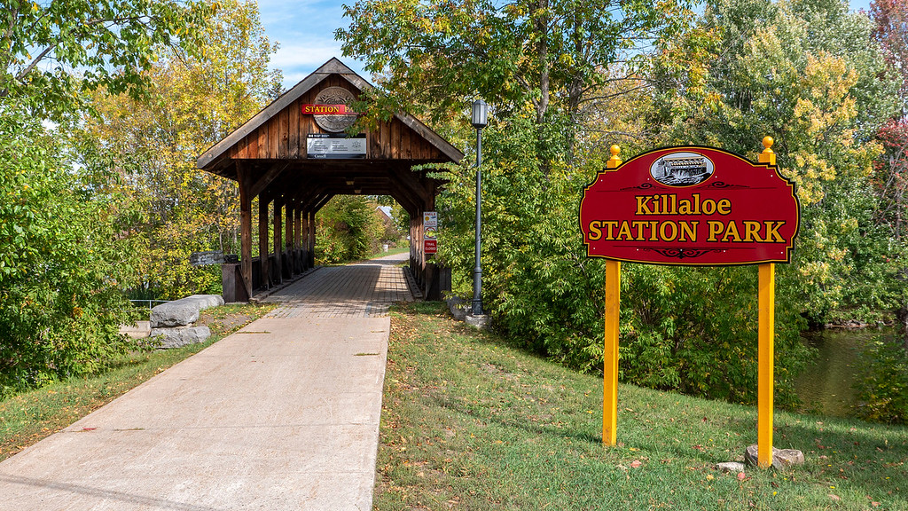 Killaloe Station Park and covered bridge