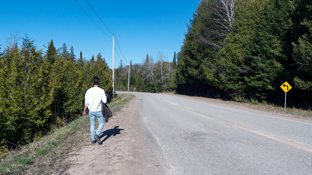 1st Line East, part of the trail that runs on the road