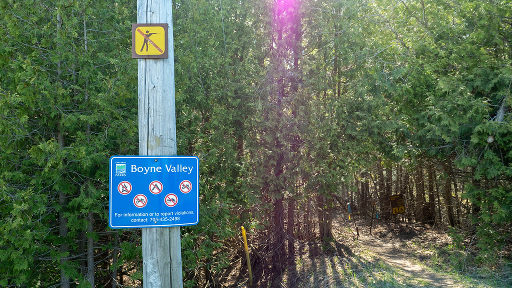 Signs for Boyne Valley Provincial Park