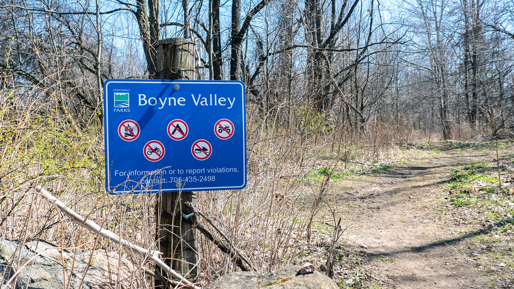 Entrance to Boyne Valley Provincial Park - Ontario Parks