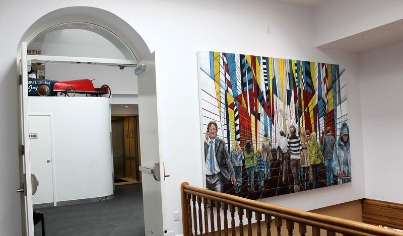 Hallways of the Retro Suites Hotel