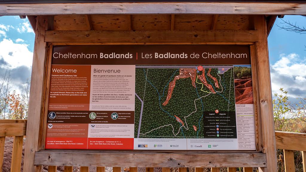 Cheltenham Badlands Map