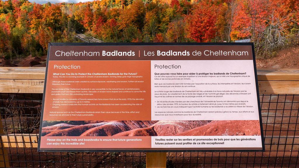 Protection of the Cheltenham Badlands