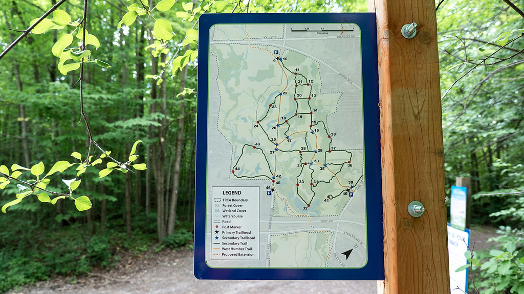 Claireville Conservation Area Trail Map