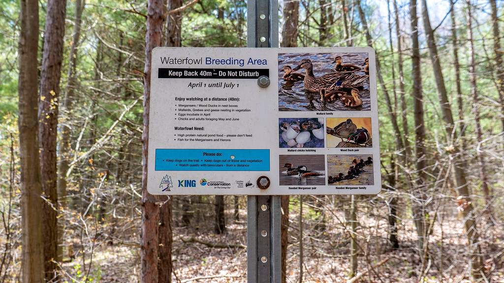 Wetlands and Waterfowl breeding area sign
