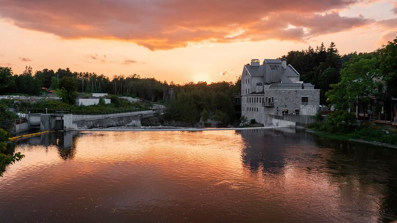 Elora Ontario at sunset - Best road trips in Ontario