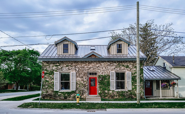 House in the village of Elora, Ontario, Canada.