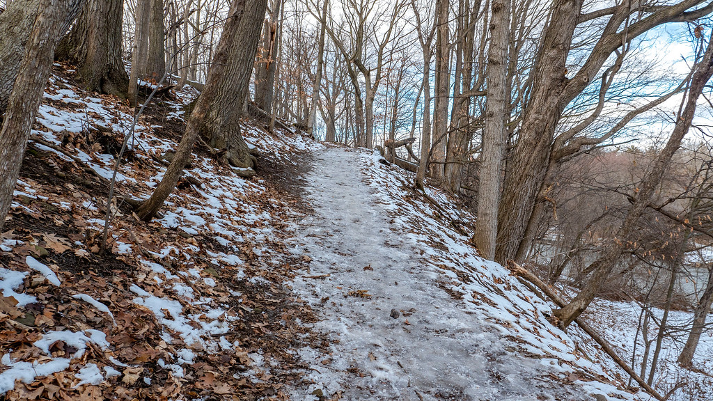 Icers are great for hiking on icy hills.