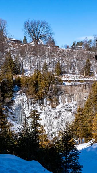 Cataract Falls in the winter