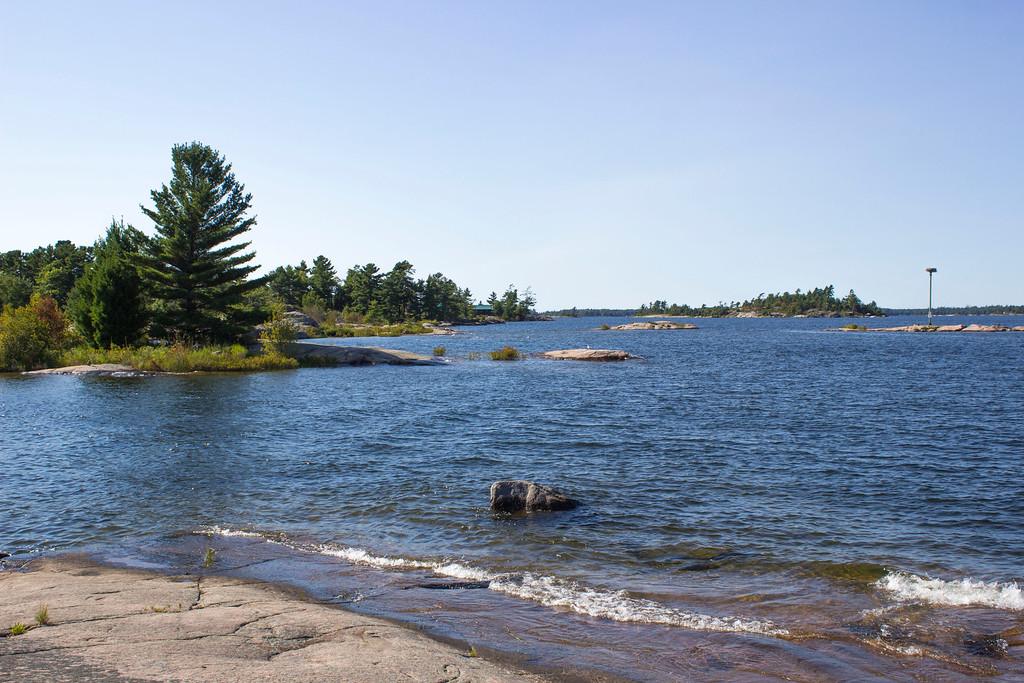 Beausoleil Island - Honeymoon Bay - Swimming on the island