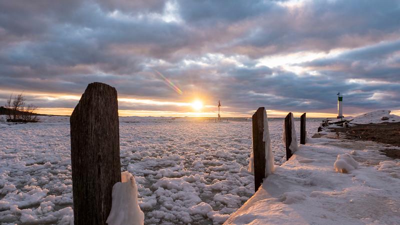 Grand Bend winter sunset