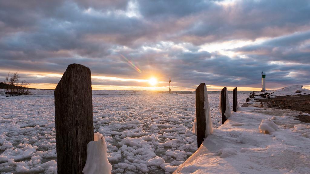 Grand Bend beach in the winter