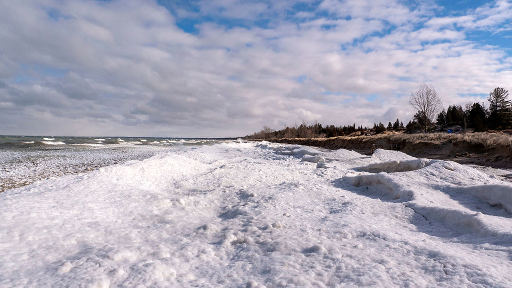 Pinery Winter Beach - Lake Huron in Winter