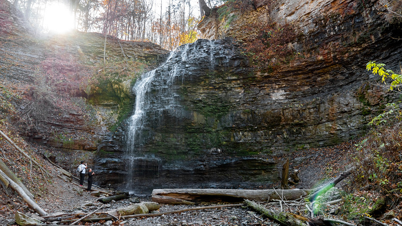 Tiffany Falls in the fall