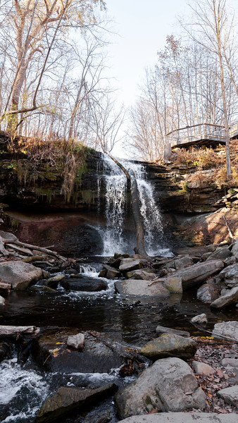 The base of Smokey Hollow Waterfall in Waterdown