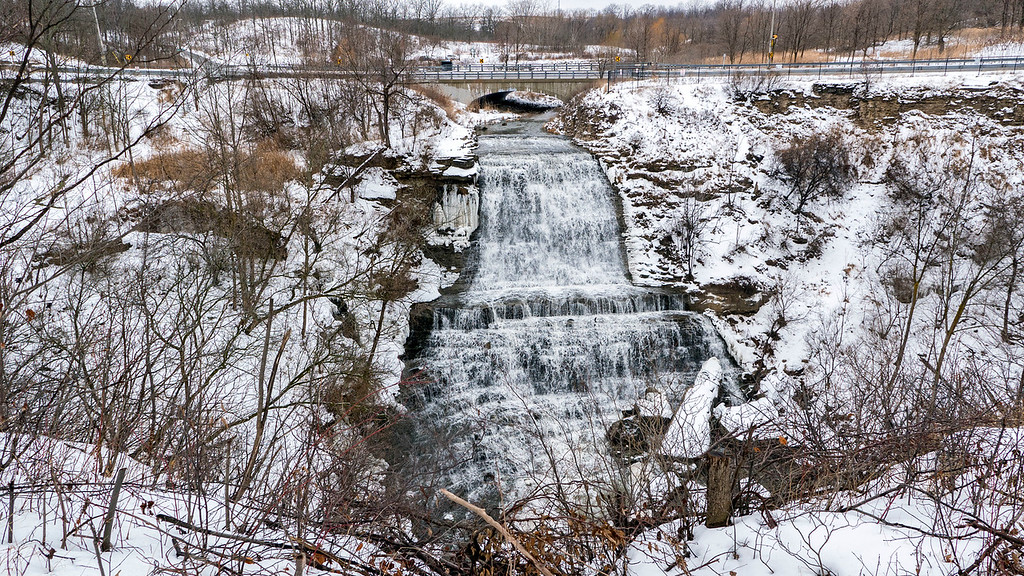 Haunted Hiking Trails in Ontario: Albion Falls in Winter