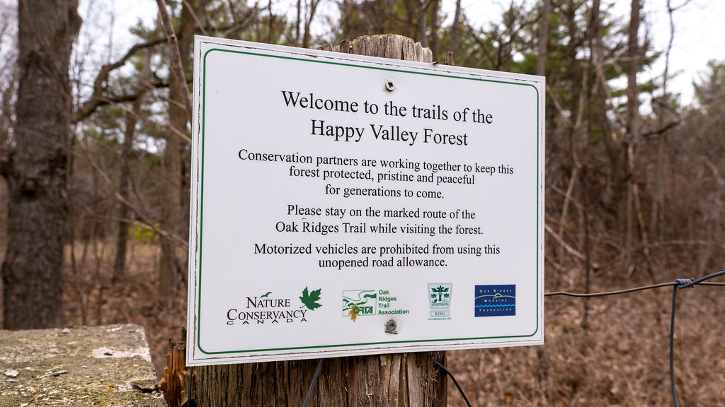 Happy Valley Forest nature trails - York Regional Forest in the GTA