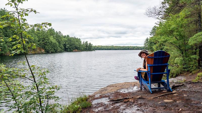 Muskoka chairs on Ontario hiking trails