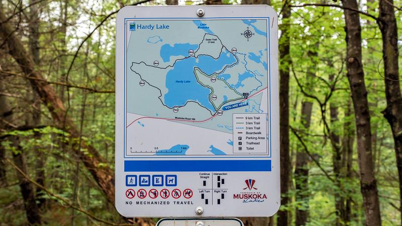 Hardy Lake Provincial Park Map