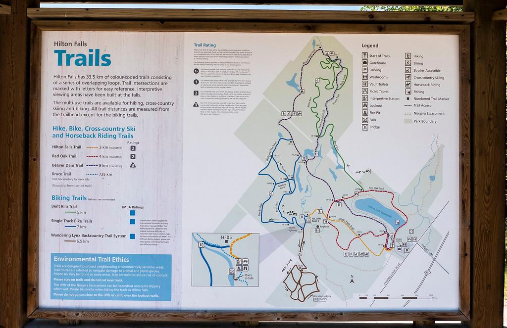 Hilton Falls Map - Milton Ontario