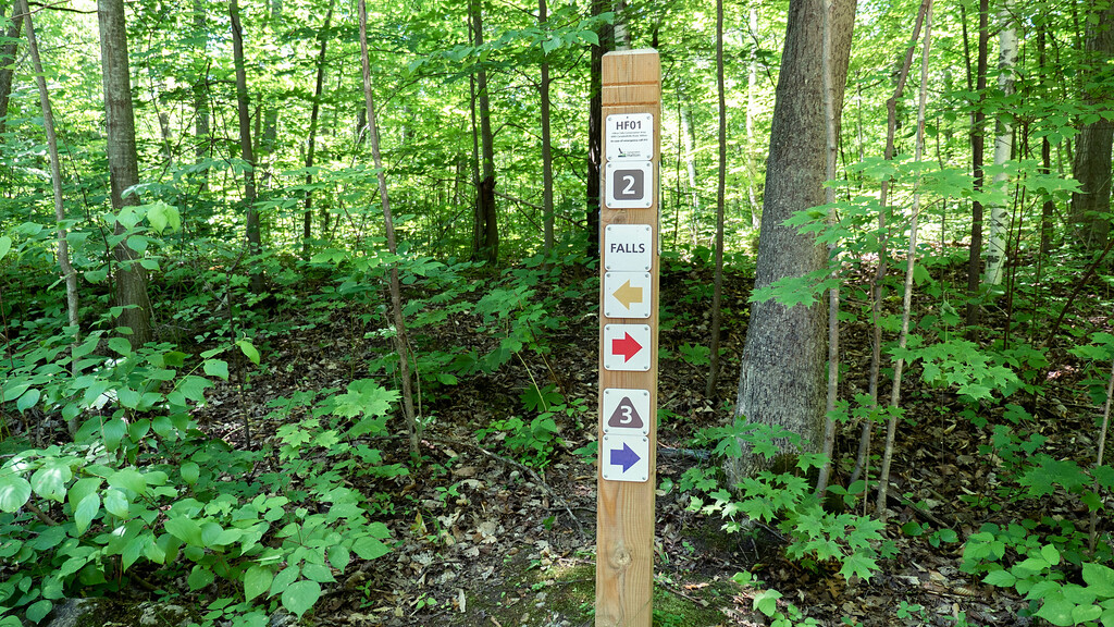 Sign posts to mark the trails