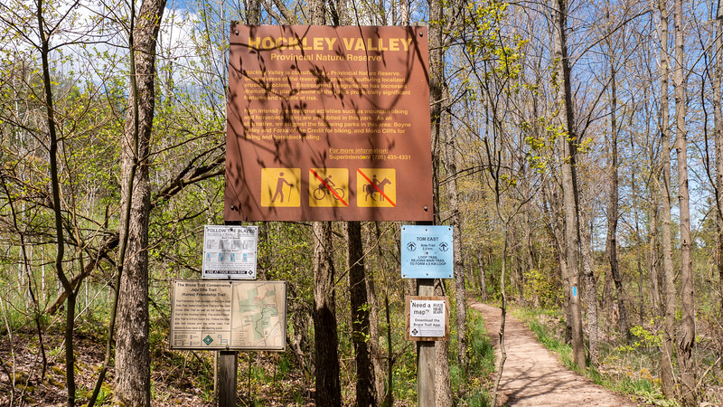 Hiking at Hockley Valley Provincial Nature Reserve