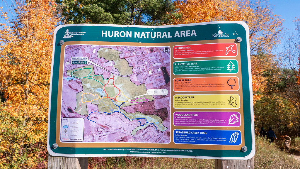 Huron Natural Area Map