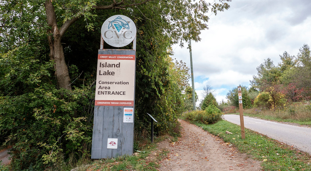 Entrance to Island Lake Conservation Area